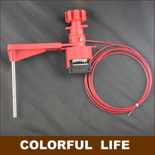 Single Stop-arm All-purpose Ball Valve Lock with cable , gate valve Lock, Safety Cable System Lockouts,Industrial safety locks