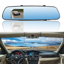 Car rearview mirror driving recorder 1080P HD blue screen anti-dazzling 3.2-inch