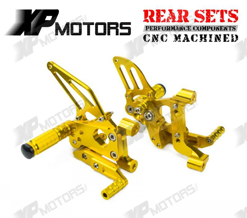 New Arrived CNC Foot pegs Adjustable Rearset Footrest Rear Sets For Ducati 899 Panigale 2014-2015 Gold<br><br>Aliexpress