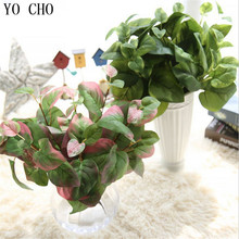 YO CHO Artificial Leaves Malacophyllous Grass Wild vetch Leaf Plastic Fern Plant Flower Decoration Wedding Leaves Home dress up