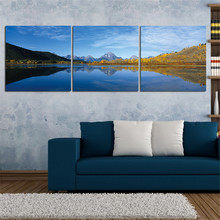 Landscape Painting on Canvas Art Mountain River Posters Oil Painting Home Decor Wall Pictures for Living Room No Frame 3 Pieces