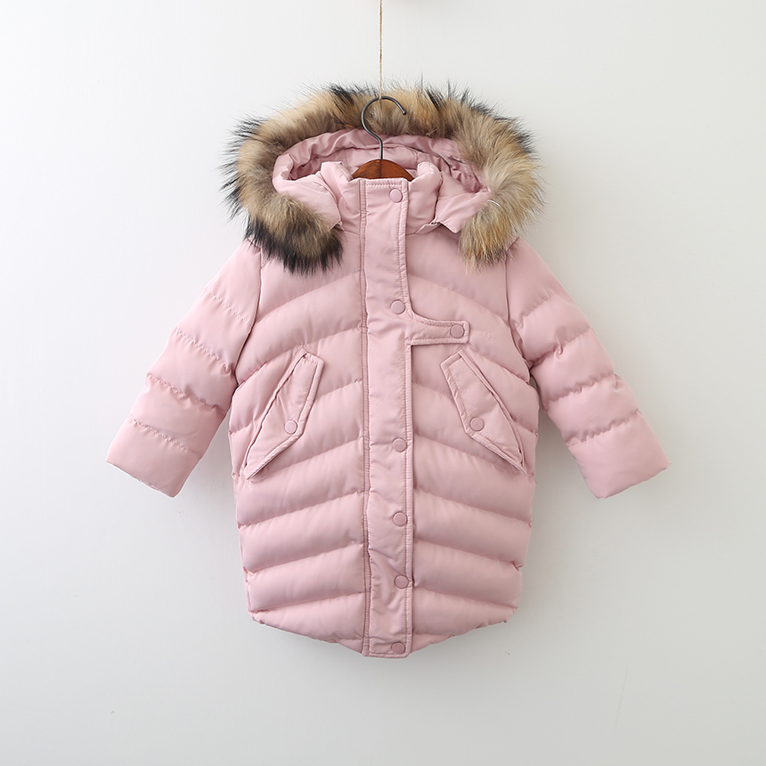 Toddler Girls Autumn Winter Hooded Clothes Children Button Clothing Thickened Parkas Baby Winter Solid Coats 6pcs/LOT<br>