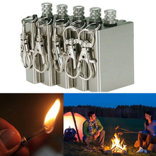 1pc Safety Durable Emergency Fire Starter Flint Match Lighter Metal Outdoor Camping Hiking Instant Survival Tool