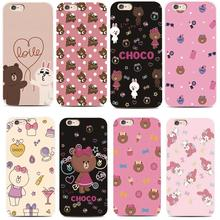 Cute brown bear choco-for iPhone 4S 7 7plus 6S 6plus 5 5S for the Samsung S4 S5 S6 S6edge S7 S7edge Hard plastic phone case