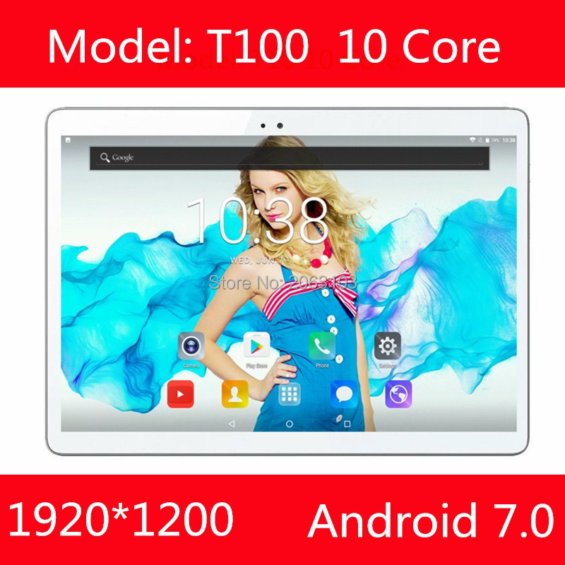 Free Shipping 2017 Newest MTK6797 Octa Core 3G 4G Phone Call 10 inch Tablet PC 4GB RAM 64GB ROM 8.0MP Bluetooth GPS Phablet