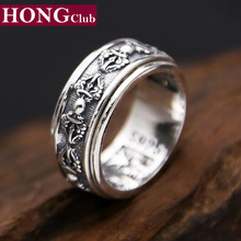 Brand Men Women Ring 100% Real 925 sterling silver King Kong pestle engagement ring dropshipping fashion jewelry R16(China)