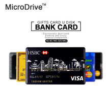 Hot sale 4G/8G/16G/32G/64G Bank Credit Card Shape USB Flash Drive Pen Drive Memory Stick best gift