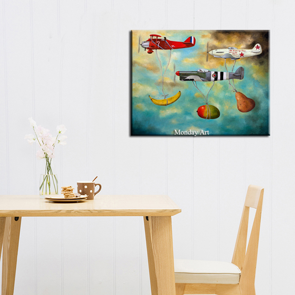 1-Still-Life-Oil-Pain1ting-On-Canvas-Handmade-Impression-Plane-With-Fruit (1)
