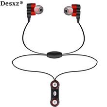 Desxz Headphones earphone Bluetooth wireless Dual Speaker HD with Mic Headset AptX Sport  for iPhone Android phone Earbuds run