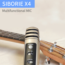 SIBORIE X4 condenser mobile karaoke  electronic microphone for cellphone rock&roll pc video recording voice changer microphone