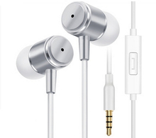 Wholesale - Original JINMANFU 3.5mm With Mic Remote Earphone For IPhone 6 5S Xiaomi MP3 4 High Quality Best Bass Free Shipping