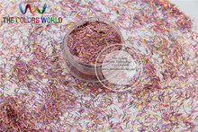 Laser Holographic Dark Pink  Colors Strip short bar shape Glitter for Nail Art  and DIY supplies1pack=50g