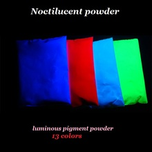 Glow in dark above 10 hours luminous pigment Acrylic Paints 13Color =390G long last glowing,noctilucous Noctilucent powder(China)