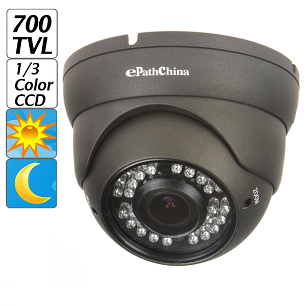 ePathChina Hot Effio-E Color CCD 700TVL 2.0 Mega 2.8-12mm Varifocal Lens Security OSD Menu CCTV Camera with Sony 1/3 Sensor<br>