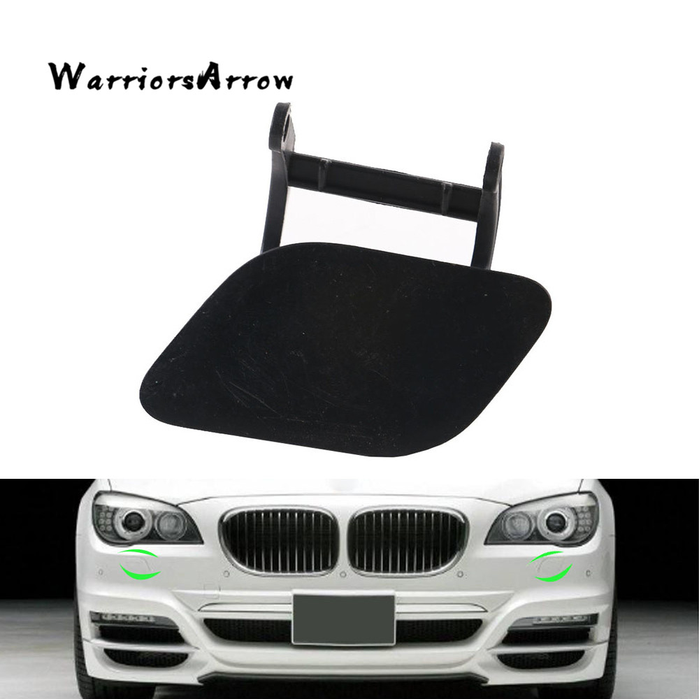 Unpainted Front Bumper Towing Eye Hook Cover Cap ForBMW 7 F01 740 750 760