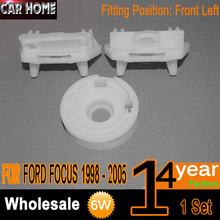 Car Plastic Clips For Ford Focus Electric Window Regulator Winder Fix Repair Clip & Pulley Front Left