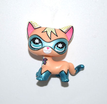 Pet Shop Animal Comic Super Hero Blue Mask Cat Kitty Doll Figure Child Toy(China)