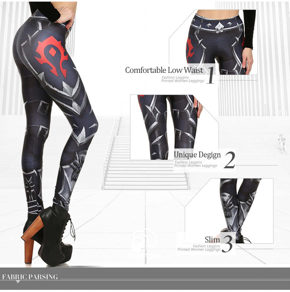 17 New Design Spring Summer WOW OF THE HORDE Legins Popular Fashion Leggins Printed Women Leggings 12