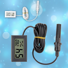 Portable Mini LCD Thermometer Hygrometer Temperature Humidity Meter Probe Store 48