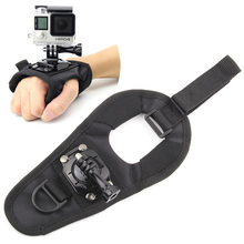 SOONSUN GoPro Glove Wrist Band 360 Degree Swivel Rotation Hand Strap Belt Tripod Mount for GoPro Hero 4/3+/3 Go Pro SJCAM SJ4000