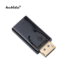 kebidu 1pcs Mini Display Port DisplayPort DP Male to HDMI Female Converter Cable Adapter 1080P Video Audio Connector for HDTV PC(China)