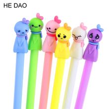 6Pcs/lot 0.38mm Cute Candy Color Sunny Doll Gel Ink Pen Promotional Gift Stationery School Office Supply
