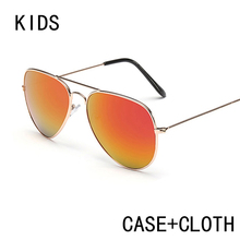 Free Shipping UV400 sun glasses Boys Girls Kids Sunglasses Fashion Metal Frame Child sun glasses sunglasses for kids with Box