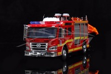 Diecast Car Model Jiefang Fire Rescue Truck 1:43 (Red) Foam Box + SMALL GIFT!!!!!(China)