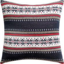 Promotion Knitting Christmas Snowflake Design Cushion Cover Red Bed Pillows