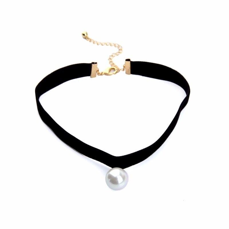HTB1LFn1OFXXXXaUaXXXq6xXFXXXv - KISS ME New Popular Black Chokers Round Simulated Pearls Choker Necklace 2017 Fashion Jewelry Women Bijoux