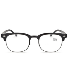Fashion TR-90 Reading Glasses Men Women Ultra-light Resin HD old light Glasses Half-frame Eyewear For Reader Glasses 1.5 2.5 3.5