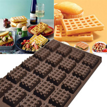 Silicone Mini Round Waffles Pan Cake Chocolate Pan Baking Mould Mold Waffle Tray DIY cakes oven baking mould 2017 drop shipping