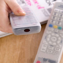 1Pcs Silicone TV Remote Control Cover Air Condition Control Case Waterproof Dust Protective Storage Bag Organizer
