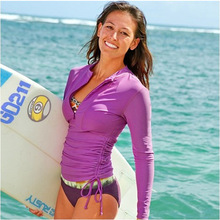 Buy SBART Purple Long Sleeve Wetsuit Women Surfing Swimsuit Surf Shirt Woman Wet Suit Swimming Diving Suit Rash guard Swimsuits for $20.70 in AliExpress store