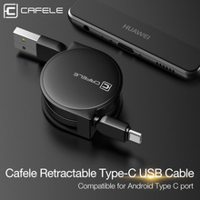 CAFELE USB Type C Cable For Samsung Huawei Xiaomi Type-C 2.0 USB Cable Retractable Style Mobile Phone Cables For Android Phones(China)