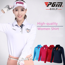 PGM Authentic Spring Golf Apparel Golf Fit Women Polo Shirt Korean Lady Long-sleeve Tshirt Fall Ball Sports Leisure Tennis Shirt
