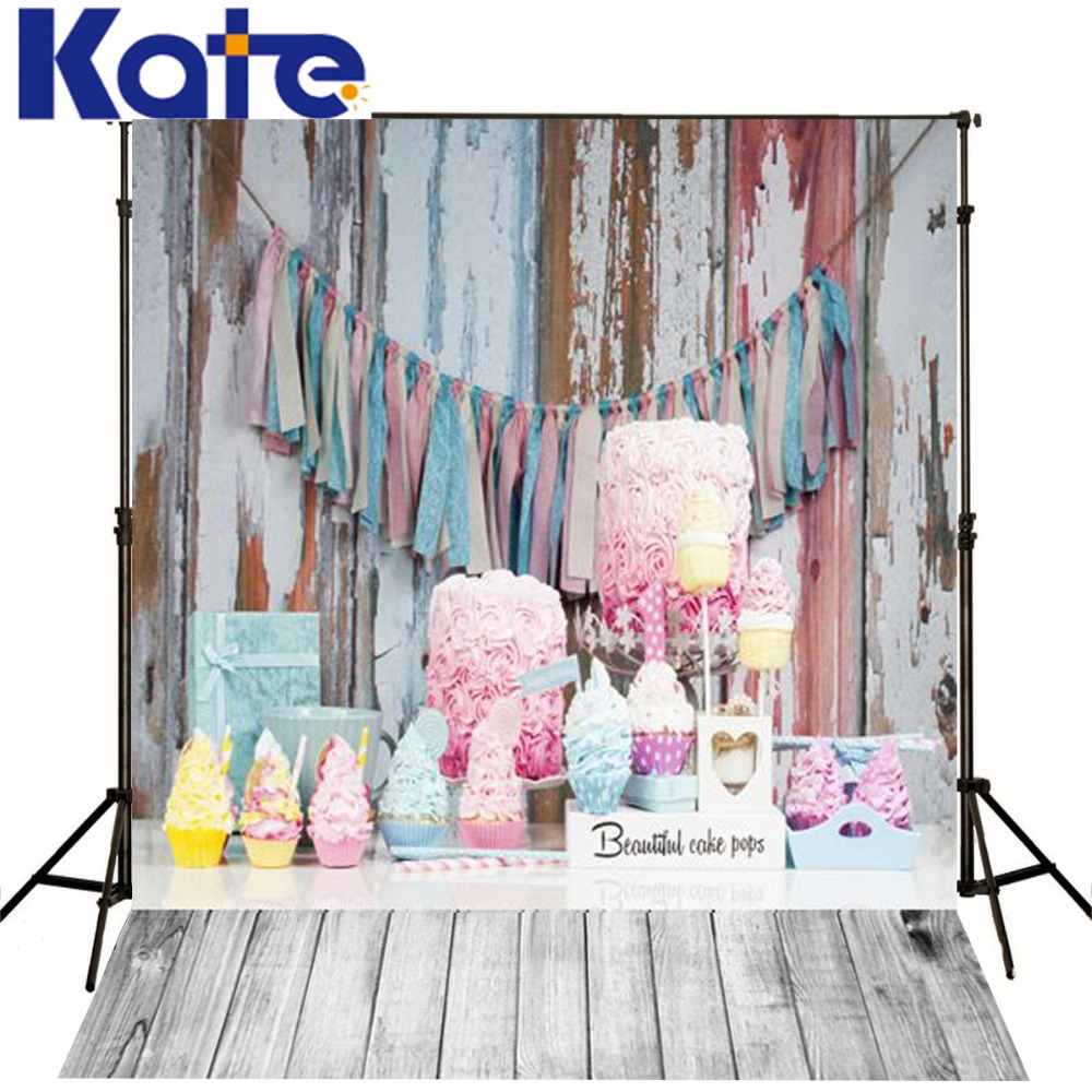 Kate Digital Pink Photography Backdrops Colorful Cake Birthday Background Wood Floor For Children Photo Photographic Studio<br><br>Aliexpress