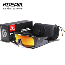 2018 New Cool Summer KDEAM Eyewear Men Sunglasses Brand Good Quality Sport Goggle UV400 Mirror lens With case KD999-C56(China)