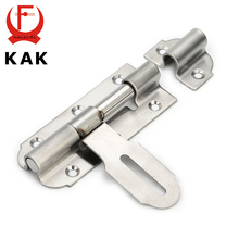 KAK-5111 304 Stainless Steel Door Bolt Security Guard Lever Action Flush Latch 6 inch Slide Bolt Lock For Furniture Hardware(China)