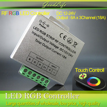 DC 12-24V Wireless LED Controller RF Touch Panel LED Dimmer RGB Remote Controller for RGB LED STRIP LIGHT(China)