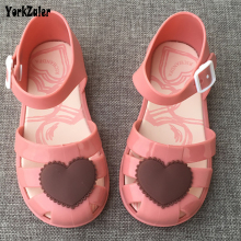 Summer Mini Melissa Sandals Girls Jelly Shoes Heart Red Black Kids Beach Sandals Todders Melissa Shoes Girls Infant Brazil