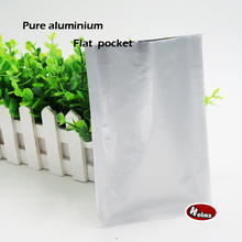 11*16cm Pure aluminium flat pockets,thermal vacuum airtight container bags,food storage,cosmetics packaging.Spot 100 / package