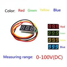 Red Second line precision dc digital voltmeter head LED digital voltmeter DC4.5V-30V 0.28 Inch Mini Digital Voltmeter