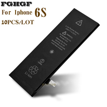 FGHGF Wholesale 10PCS/Lot Phone Battery For Iphone 6S China Factory 3.8V 1715mah AAA Qlty 100% Test 0 cycle Can OEM(China)