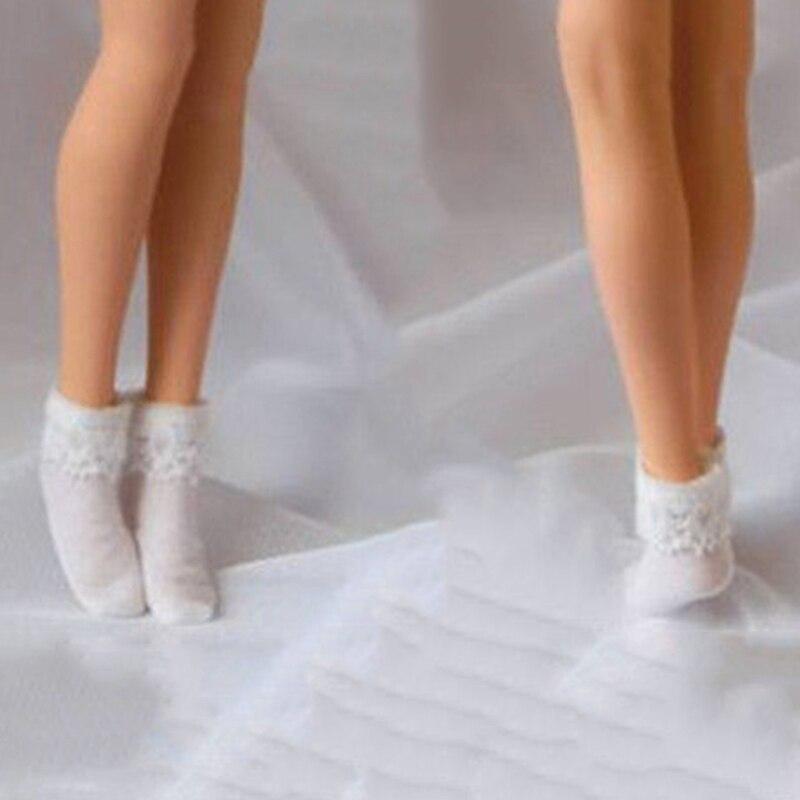 6 weiße Socken Strümpfe für 12 Zoll Phicen weibliche Figur Kleidung 1