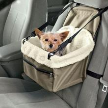 Portable Collapsible Car Pet Booster Seat Safety Dog Cat Carrier Cage Travel Tote Bag Basket Luggage with Adjustable straps