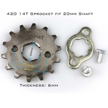 Front Sprocket 420-14T 20mm 420 Size 14 Teeth Sprocket for Motorcycle ATV Dirtbike(China)