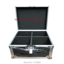 Flight Case with 4pcs/lot quick shipment new LED Spot Moving Head Light 30w 8/11 Channels DMX stage light in stock
