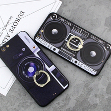 new Retro phone camera tape Consoles Calculator glitter carcasa Case For iPhone 6 6s 7 Plus Printed soft Back Cover coque
