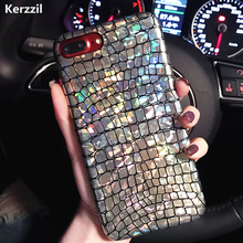 Kerzzil For iPhone 7 Shining Crocodile Texture Laser Colorful Hard Case For iPhone 7 6 6S Plus Snake PU Leather Back Capa Cover